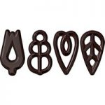 Callebaut chocolate filigree decorations