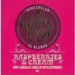 Willie's Raspberry & Cream white chocolate bar