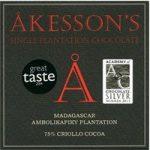 Akesson's, Madagascar Criollo, 75% dark chocolate bar