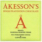 Akesson's, Brazil Forastero, 75% dark chocolate, coffee & nibs bar