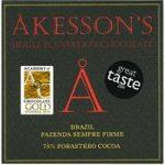 Akesson's, Brazil Forastero, 75% dark chocolate bar