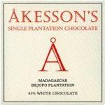 Akesson's, Madagascar, Bejofo plantation 43% white chocolate bar