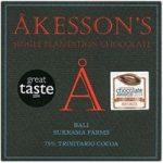 Akesson's, Bali Trinitario, 75% dark chocolate bar