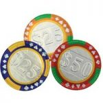 Chocolate casino poker chips – Bag of 20 with gift bag