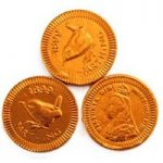 Copper farthing chocolate coins – Bag of 100