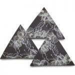 Arabesque decorative chocolate triangles – Box of 10