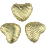 Gold chocolate hearts (Small) – Bulk box of 200