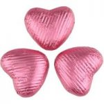 Pink chocolate hearts – Bulk box of 200