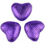 Purple chocolate hearts – Bag of 20