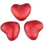 Red chocolate hearts (small) – Bulk box of 200