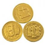 One pound chocolate coins – Bag of 50