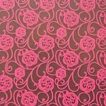 Pink rose, chocolate transfer sheets x2