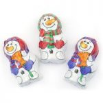 Milk chocolate mini snowmen – Bulk box of 100