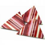 Striped decorative chocolate triangles – Box of 10
