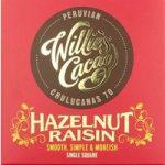 Willie's Hazelnut Raisin dark chocolate bar