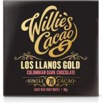 Willie's Colombian Gold Los Llanos 70% dark chocolate bar – Best before: 23rd November 2017